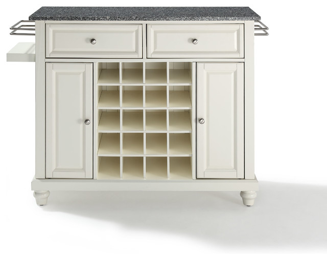 Cambridge Solid Granite Top Wine Island traditional-wine-and-bar-cabinets
