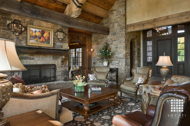 Chimney Rock Residence traditional-living-room