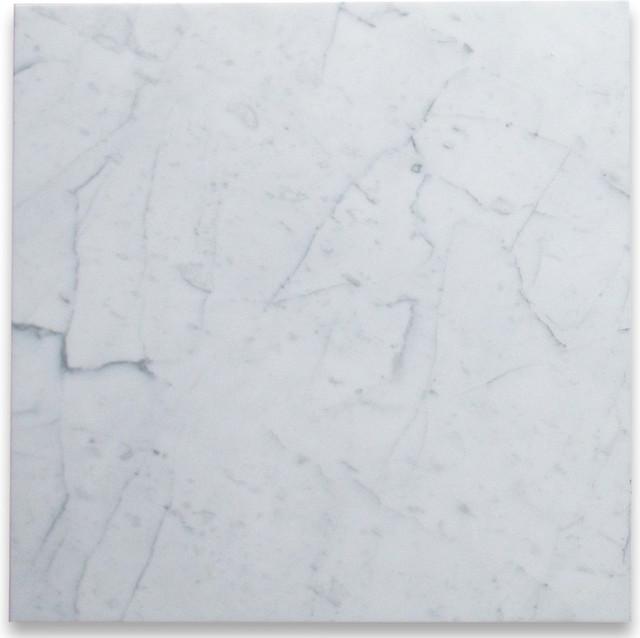 Carrara White Marble Tile 24x24 Polished Italian Bianco Carrera 200