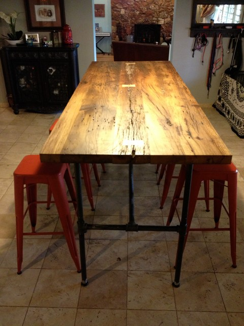 Reclaimed Wood Dining Table White Oak Gas Pipe  : eclectic dining tables from www.houzz.com size 480 x 640 jpeg 76kB