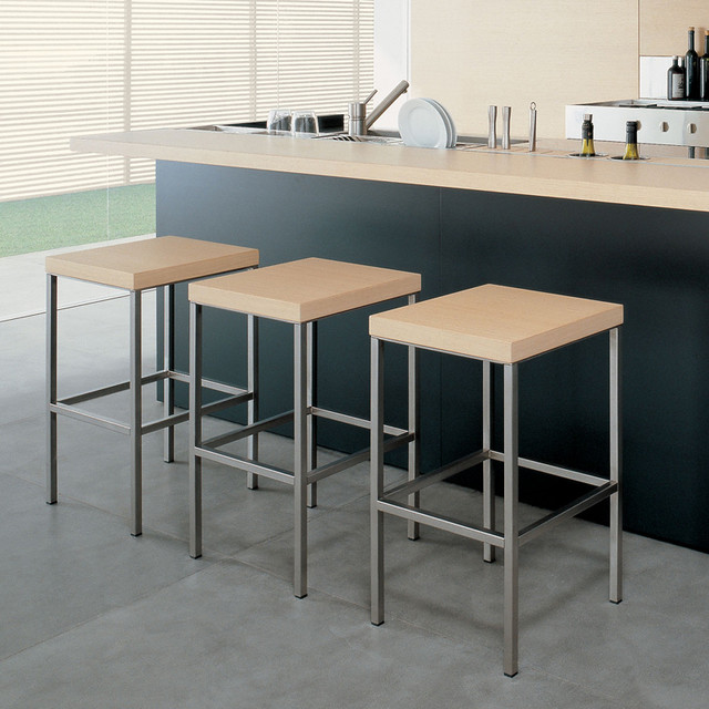 Poliform Block Counter Stool Modern Bar Stools And