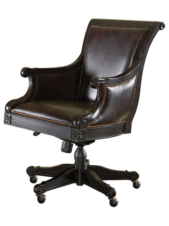 Admiralty Desk Chair in Deep Leather & Tamarind - Photo by Tommy Bahama Home, available @ http://www.dynamichomedecor.com/TB-619-938-01.html