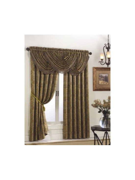 Hermitage - Heavy weight woven jacquard panel with large scale all over floral crest design.