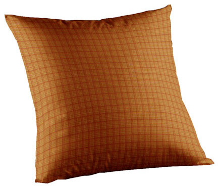 Patch Magic Golden Rod Plaid Fabric Toss Pillow 16 x 16-Inch traditional-decorative-pillows
