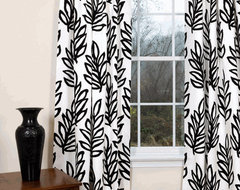 Mod Leaves Curtains contemporary curtains