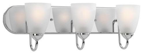 Energy Efficient Light Bulbs Bathroom Vanity : Progress Lighting P2708-15EBWB Gather Energy Efficient Three-Light Bathroom - Modern - Bathroom ...