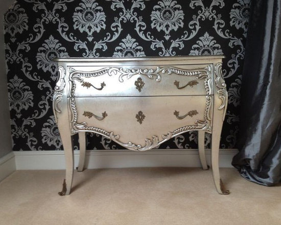 Chichi Furniture Exclusives. - Bring a touch of oppulence to your home with this stunning french chest of drawers. Two substantial drawers set inside an elegantly shaped frame, with legs adorned with antique brass shoes.