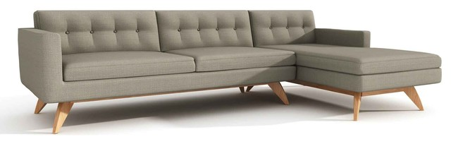 Luna Sofa with Chaise, Dolphin contemporary-sofas
