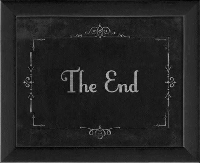 Silent Movie The End Framed Artwork Traditional