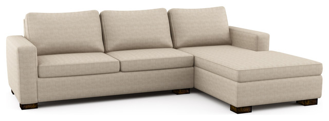 Rio chaise sectional w sofa bed modern futons los for Sofa 03 lugares retratil