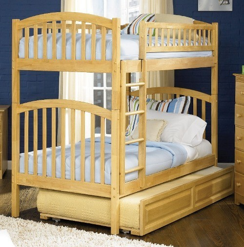 Richmond Bunk bed in Caramel Latte by Atlantic Furniture traditional-bunk-beds