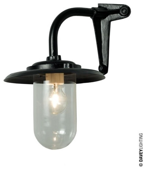 Davey 7677 Exterior Bracket Light 60W Corner Fork Black - Industrial - Outdoor Wall Lights And ...