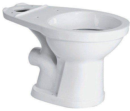 Saniflo 007 Rear Spigot Elongated Toilet Bowl Only - ADA Compliant 16 3/4 High W traditional-toilets