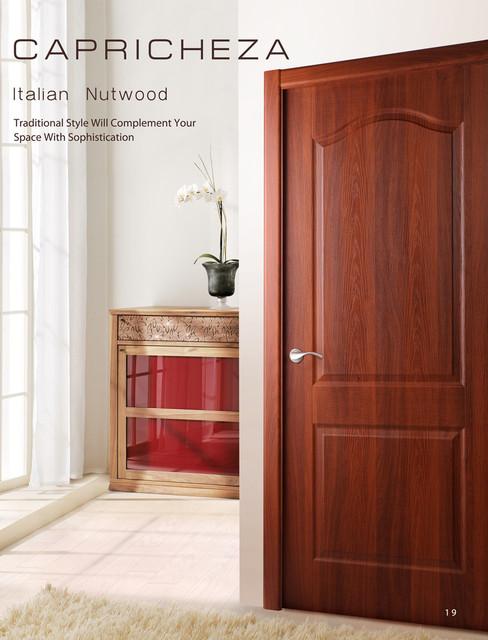 Prefinished Interior Single Door Italian Nutwood Veneer traditional-family-room