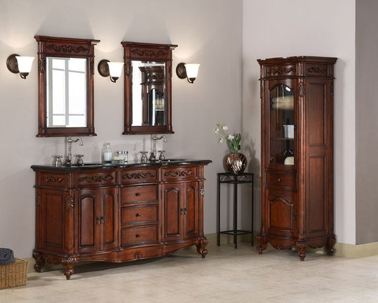 Ornate and Antique Bathroom Vanities - Queen Anne Legs (Or, What To Look For In An Antique Bathroom Vanity) - HomeThangs.com