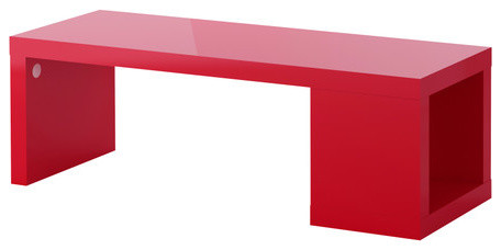 Lack coffee table high gloss red scandinavian coffee for Red modern coffee table
