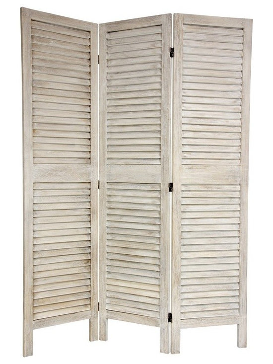 6 ft. Tall Classic Louvered Slat Venetian Room Divider -