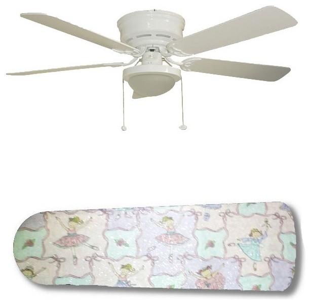 Ballerina Baby Little Girl 52 Ceiling Fan With Lamp