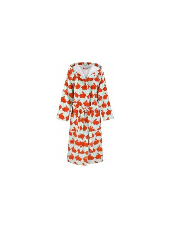 Anorak Kissing Rabbits Bathrobe -