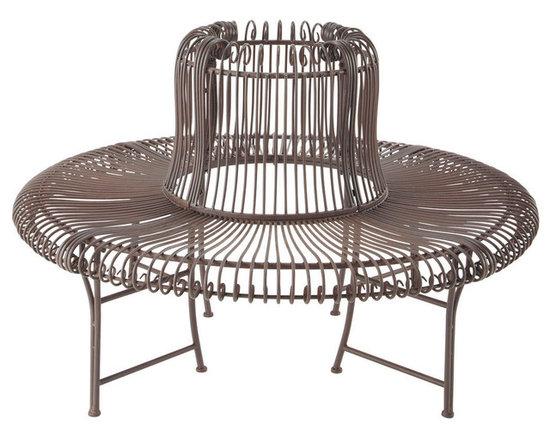 Round wrought-iron garden bench Valentin -