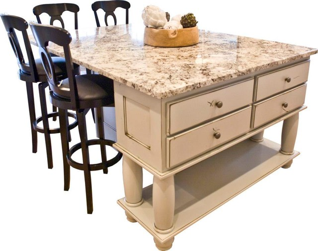 Kitchen island table with shades of ivory - Dakota Kitchen And Bath Inidual Pieces Kitchen