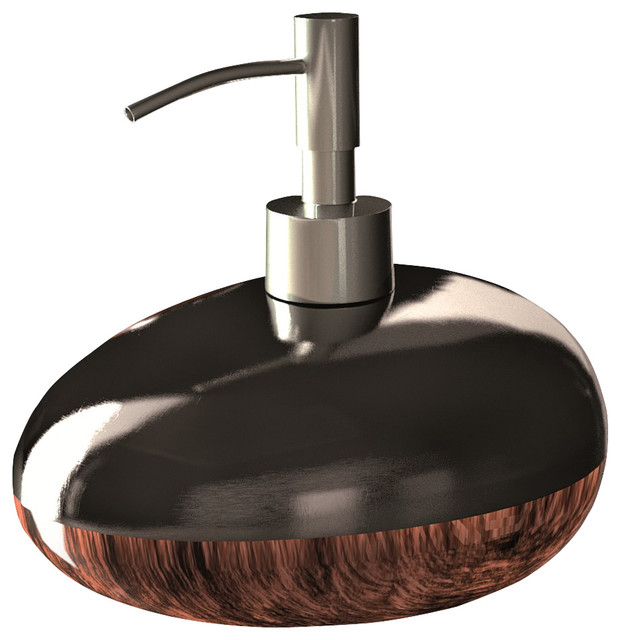 Glamour bathroom accessory set brown black modern for Black bath accessories sets