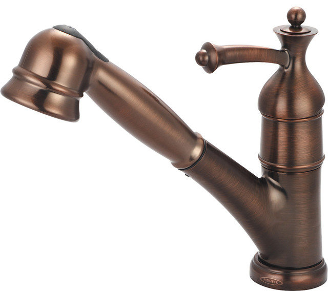 Pull Out Kitchen Faucet In Oil Rubbed Bronze modern kitchen faucets