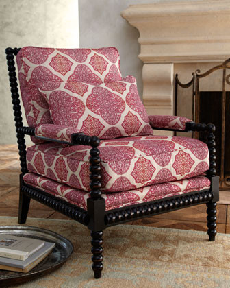 Massoud Spindle Lace Chair traditional-chairs