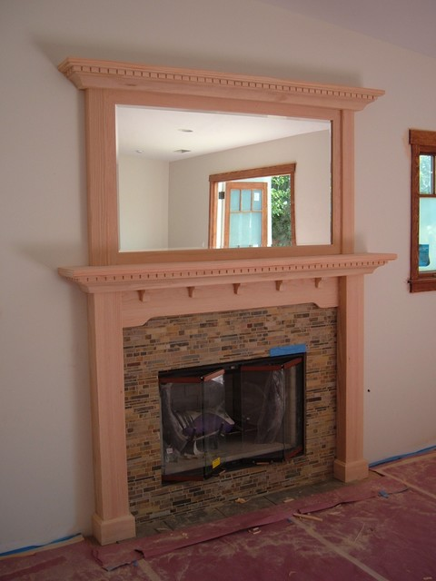 craftsman mission style mantel craftsman fireplace