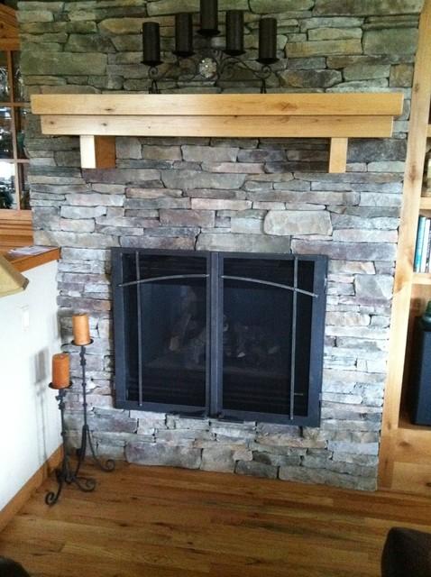 Custom Fireplace Door midcentury-fireplaces