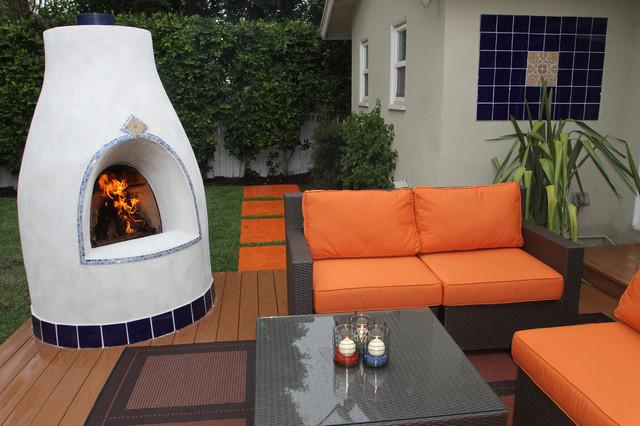 Adobelite el pueblo outdoor kiva fireplace mediterranean for Kiva style fireplace