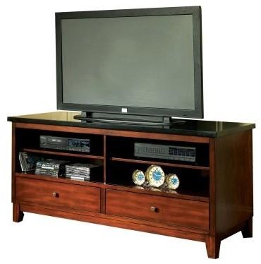 Steve Silver Granite Bello TV Cabinet - Cherry modern-home-electronics