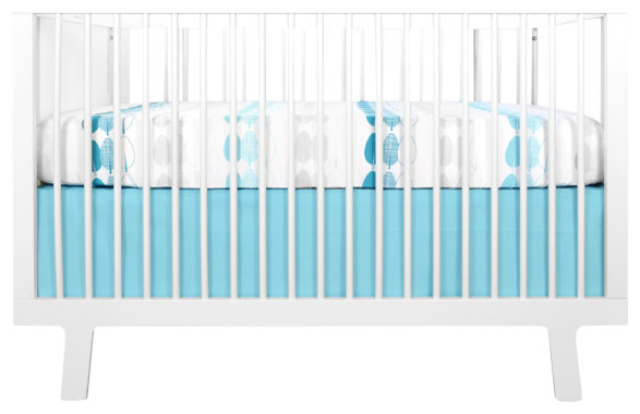 Trees 2-piece Baby Bedding Set, Blue and Gray contemporary-baby-bedding