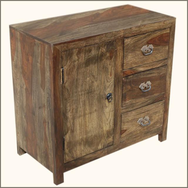 Appalachian rustic drawer kitchen buffet storage cabinet