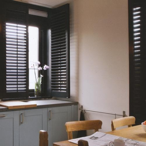 Norman Premium Wood Plantation Shutters eclectic-kitchen
