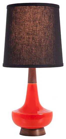 Caravan Pacific Alberta Red Table Lamp with Black Lampshade contemporary-lamp-shades