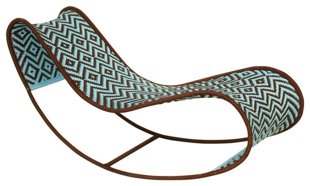 Bayekou Rocking Chaise by Moroso M'afrique eclectic-outdoor-rocking-chairs