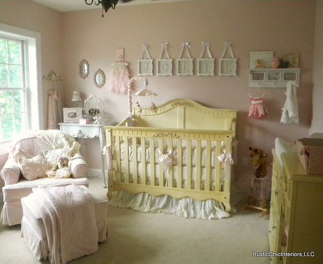 Julianna 39 s shabby chic baby nursery traditional for Chic baby nursery ideas