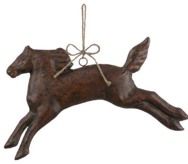 Christmas Tree Ornaments Horse: Metal Hanging Horse Ornament