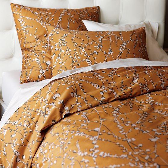 Cherry Blossom Duvet Cover + Shams modern-bedding