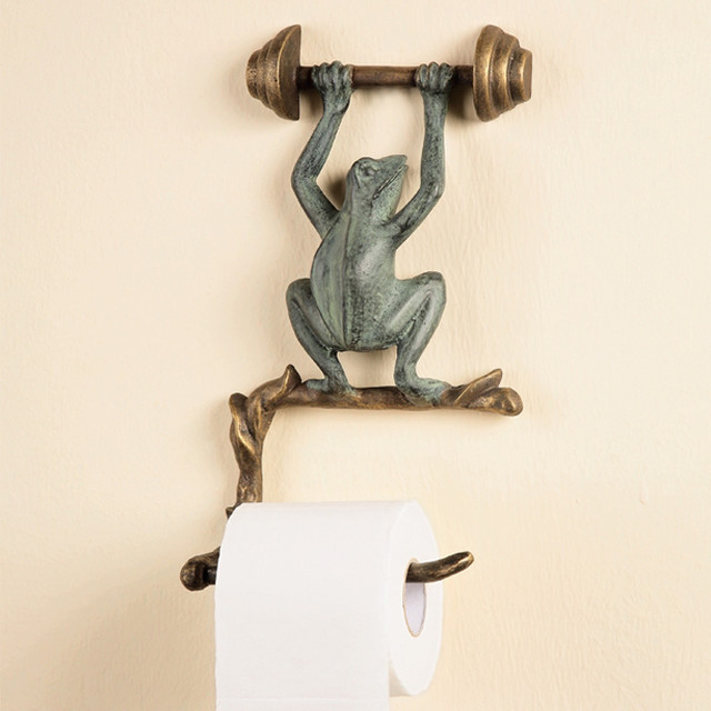 Frog wall mounted toilet paper holder tropical toilet Kids toilet paper holder