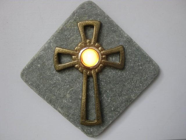 Celtic Cross Doorbell Button traditional-outdoor-decor