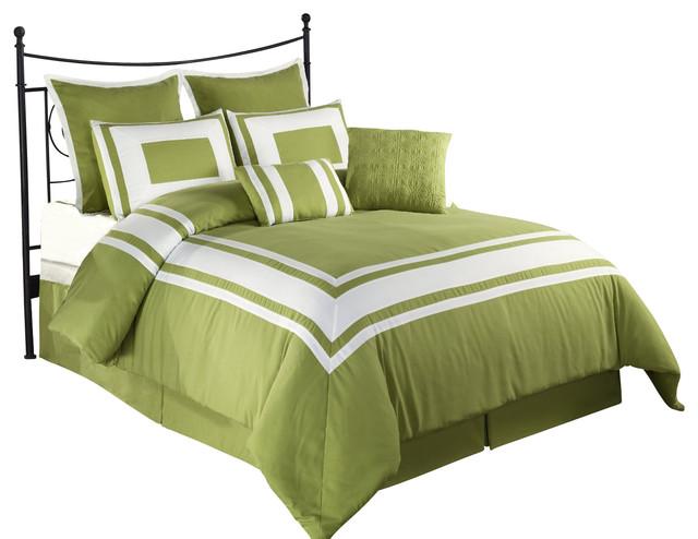 Lux Decor Down Alternative Comforter Set Green Pistachio