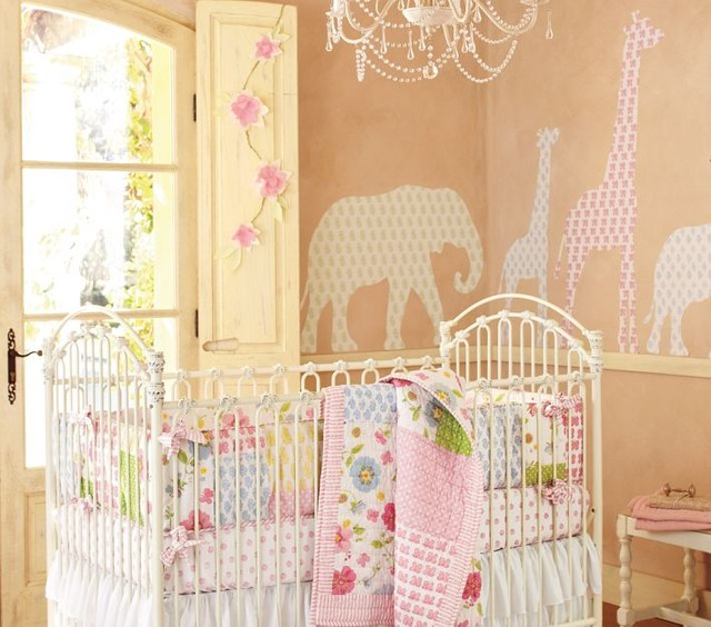 Lily Animal Decal Set modern nursery decor