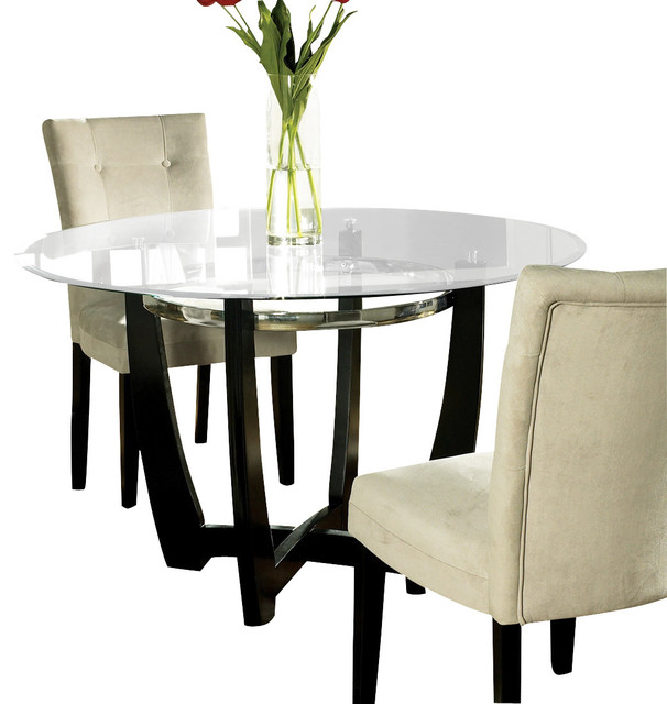 Steve Silver Matinee Glass Top Dining Table Traditional  : traditional furniture from www.houzz.com size 606 x 640 jpeg 63kB