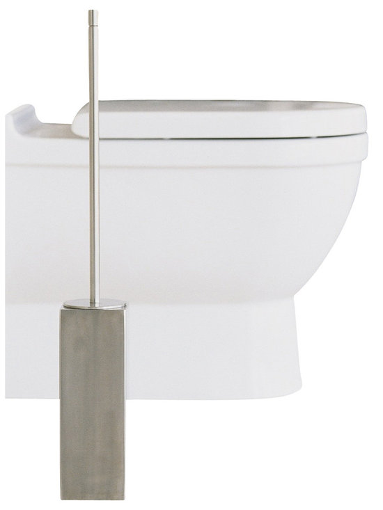 WS Bath Collections - WS Bath Collections Metric Toilet Brush Holder in Brushed Stainless Steel - High Quality Designer Bathroom Accessories