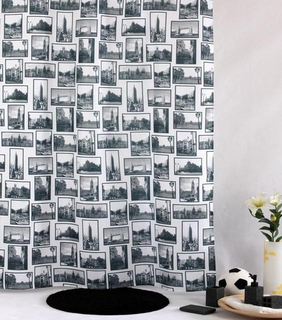 City Portrait City Scapes Shower Curtain modern-shower-curtains