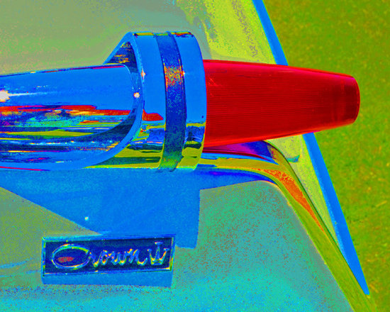 """www.WilliamBrionart.com photo gallery - Photograph by William Brion, """"Crown Falls"""", of the tail lights of a classic car from the Concours D'Elegance in Dana Point, CA. I pushed the color intensity and the saturation to get a pop art effect the really spotlights the attention to design in classic cars. ( Gallery 5)"""