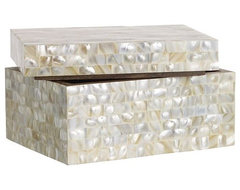 Mother of Pearl Boxes contemporary storage boxes
