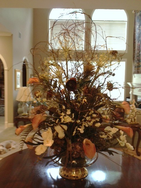 Custom floral arrangements traditional artificial